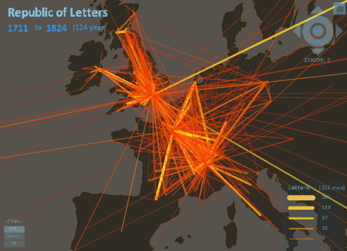 Mapping the Republic of Letters